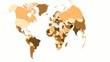 Weltkarte als Kugel