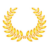 Golden laurel wreath with seeds