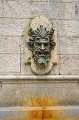 Neptun's head fountain in Geneva, Swiss