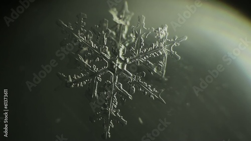 snowflake that melts. melting ice crystals