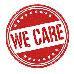 We care stamp