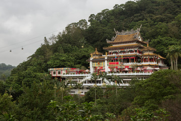 Taoist Zhinan Temple on a hillside in Taipei