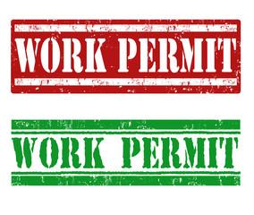 Work permit stamp