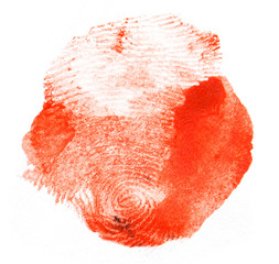 red fingerprint. macro