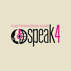 Logotyp słuchaj i mów magenta grafit ghaki