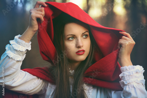 Dark tones Little red riding hood
