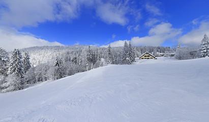snowy winter landscape in black forest germany 10