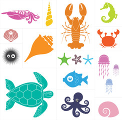 Sea vector set