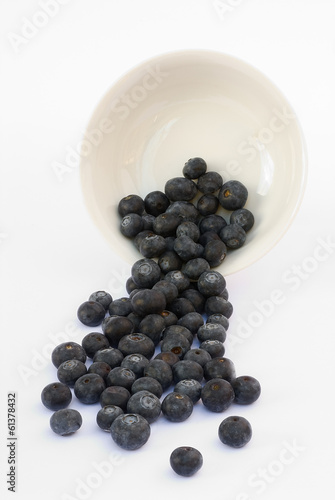 Blueberry fruit on a white background