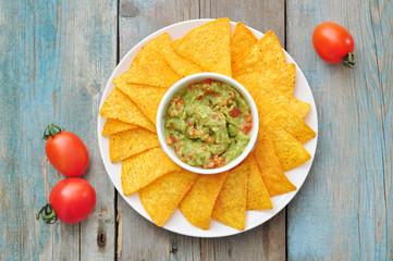 Mexican guacamole sauce