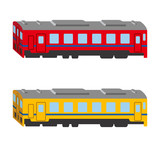 Train set, Isolated, side view