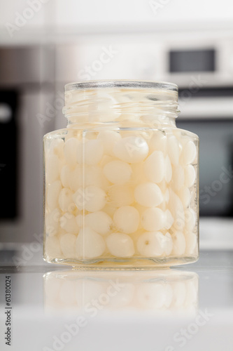 Jar with small onions