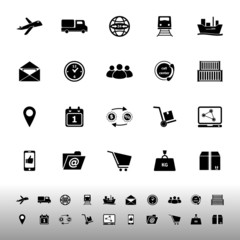 Logistic icons on white background