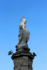 sculpture of God's mother Maria in Lvov
