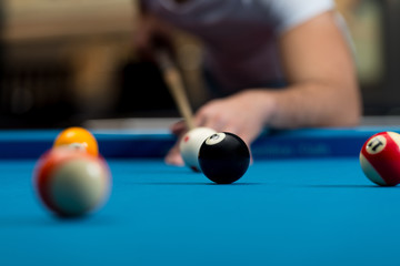 Young Person Playing Snooker