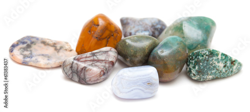 semi-precious stones isolated