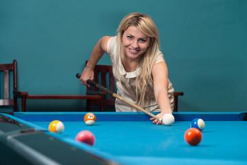 Female Pool Player