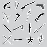 weapons and guns stickers eps10