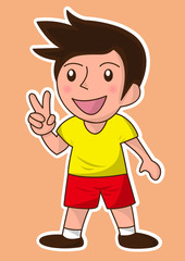 success smile character cartoon