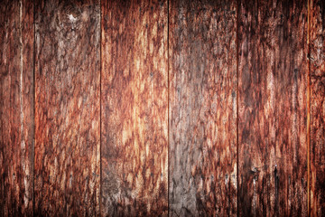 Dirty old wooden red.