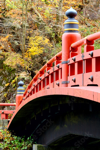 Red bridge in Nikko