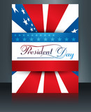 President Day in United States of America brochure template desi