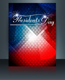Vector President Day in United States of America brochure templa