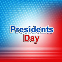 United States of America in President Day colorful background