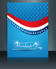 Brochure Template for United States of America in President Day