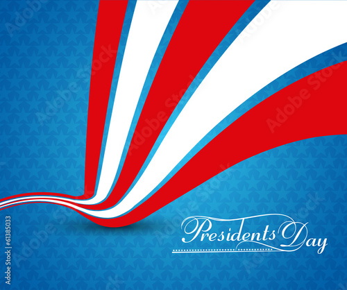Beautiful President Day in United States of America with colorfu