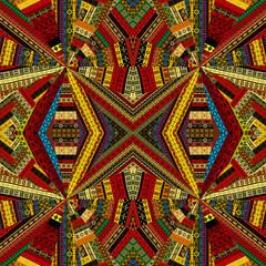 Kaleidoscope made of ethnic patchwork fabric