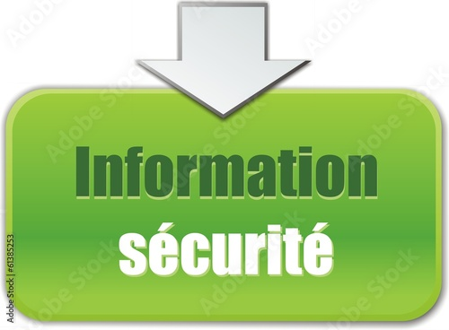 bouton information sécurité