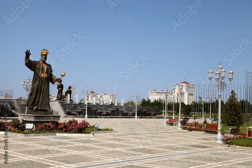 Monument historical figure Turkmenistan.