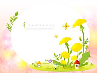 GIB0204 봄 배경 민들레