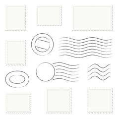 Sammlung - Briefmarken + Stempel