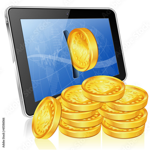 Financial Concept - Make Money on the Internet - 61386066