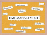 Time Management Corkboard Word Concept