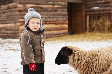 Boy on the farm