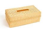Tissue paper box made by  bamboo wicker