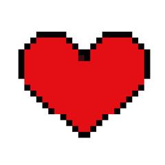 heart love 8 bit retro vintage style