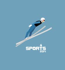 GIH0437 겨울 스포츠 플랫 스키점프