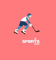 GIH0442 겨울 스포츠 플랫 아이스하키