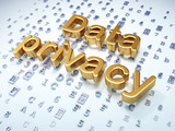 Privacy concept: Golden Data Privacy on digital background