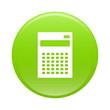 bouton internet calculatrice finance icon green sign