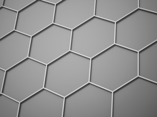 Silver hexagonal background concept