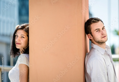 Divided - couple outdoor portrait