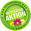 "Button ""Muttertagaktion"" Blumen grün"
