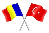 Flags: Romania and Turkey