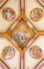 Bratislava - Fresque de Jésus-Christ et des évangélistes - cathédrale