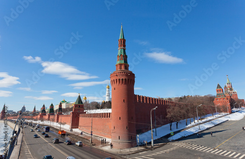 Russia, Moscow, view to the Moscow Kremlin